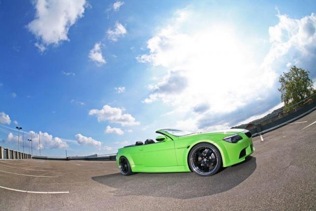 Ярко салатовый автомобиль фото